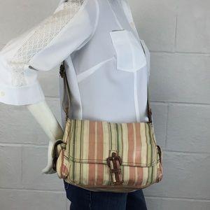 FOSSIL 75082 fabric leather crossbody bag